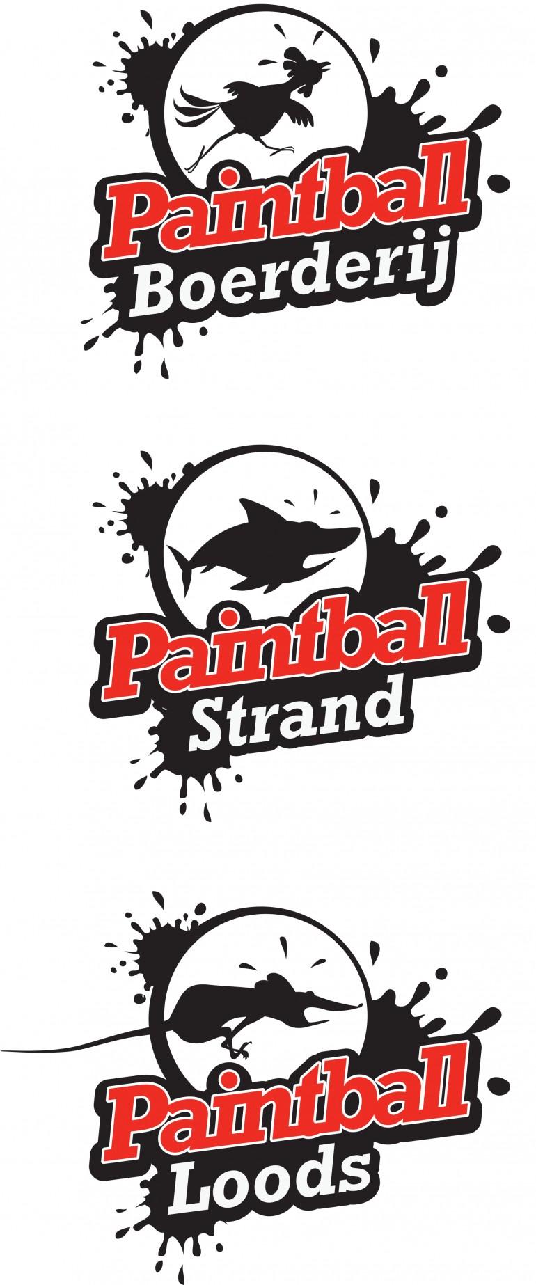 geillustreerd logo paintballstrand