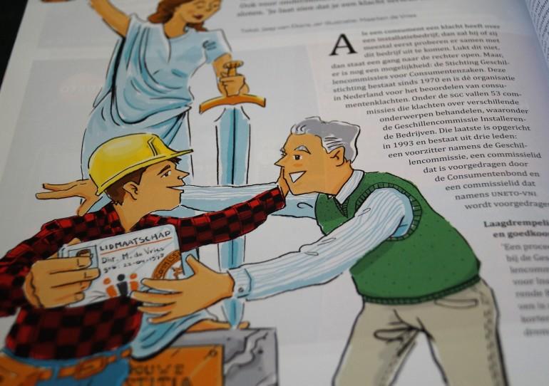close up redactionele illustratie